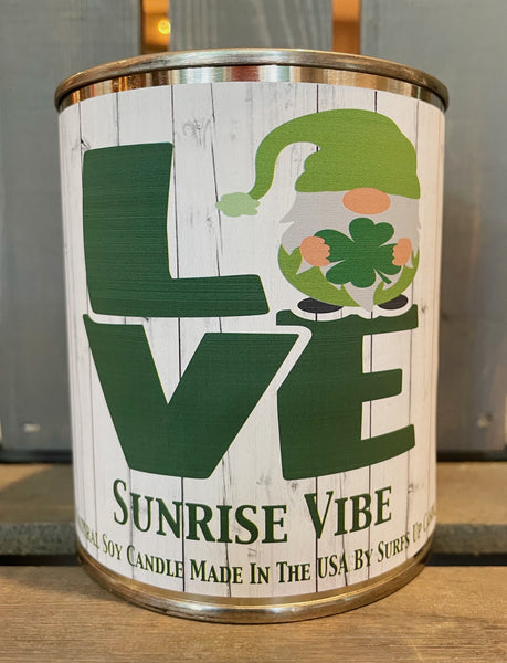Sunrise Vibe Paint Can - LOVE - St. Patricks Day