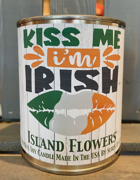 Island Flowers Paint Can - Kiss Me - St. Patrick's Day