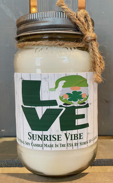 Sunrise Vibe Mason Jar - LOVE - St. Patricks Day