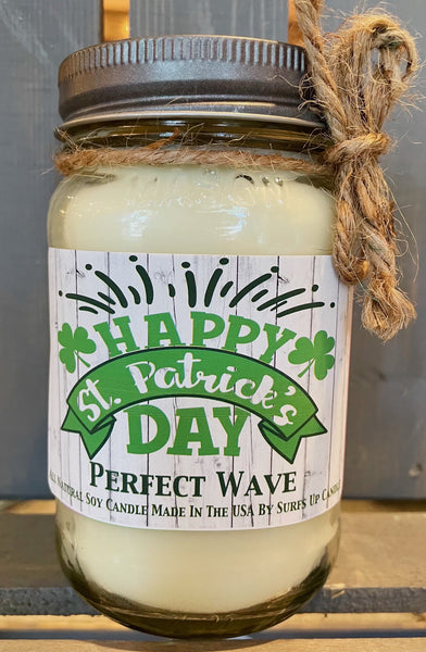 Perfect Wave Mason Jar - Happy - St. Patrick's Day