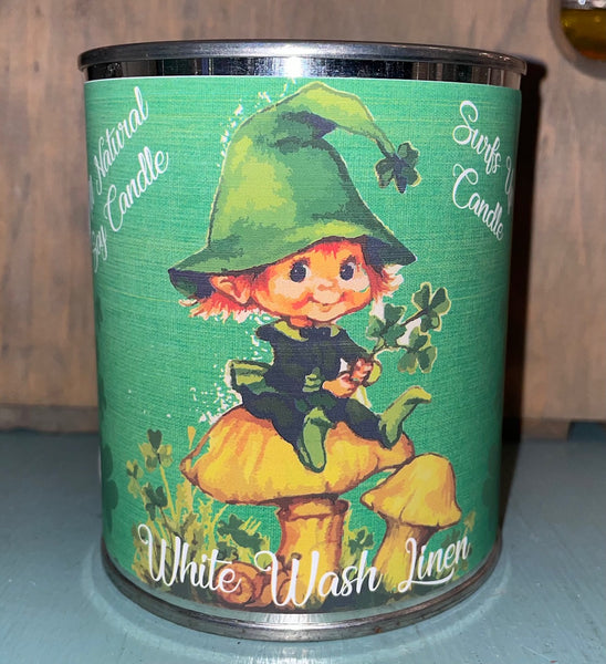 White Wash Linen - Leprechaun - St. Patrick's Day - Paint Can