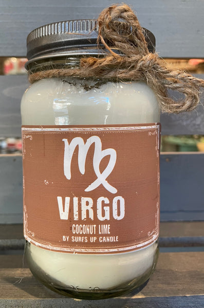 Virgo - Coconut Lime Mason Jar