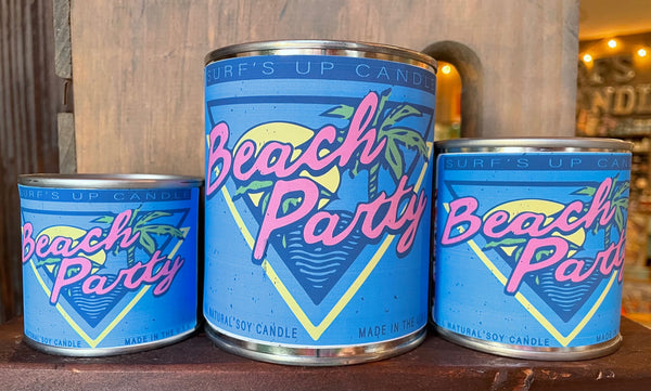 Beach Party Paint Can Candle
