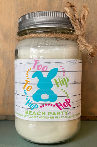 Beach Party - Easter Quote - Mason Jar