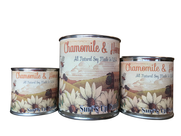 Chamomile and Honey Paint Can Candle