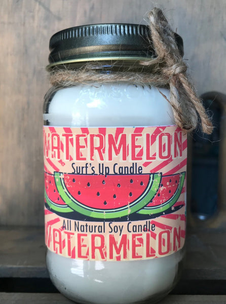 Watermelon Vintage Mason Jar Candle