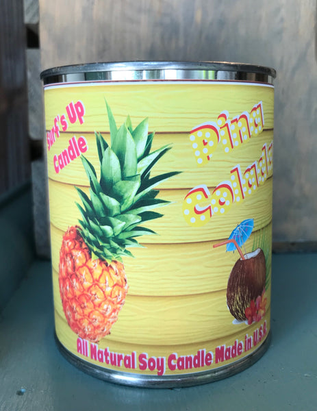 Pina Colada Paint Can Candle