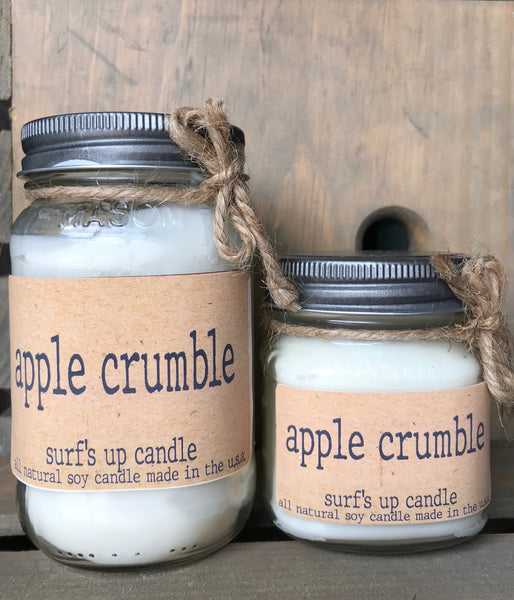 Brown Bag Label - Apple Crumble Mason Jar Candle