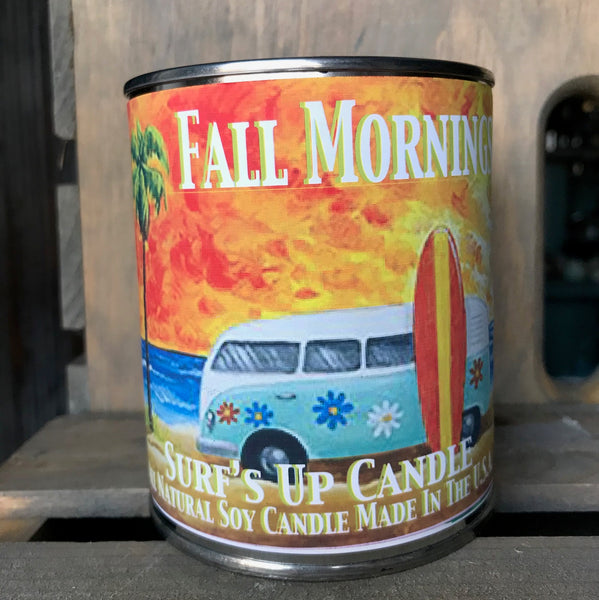 Fall Mornings Paint Can Candle