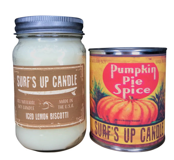 Iced Lemon Biscotti Jar and Pumpkin Spice Paint Can Set