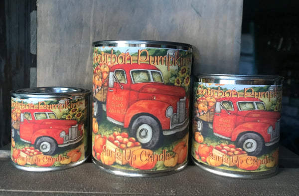 Bourbon Pumpkin Paint Can Candle