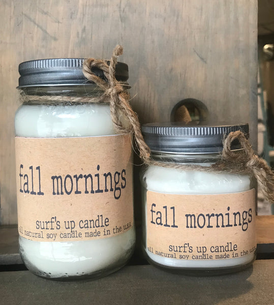 Brown Bag Label - Fall Mornings Mason Jar Candle