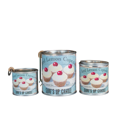 Iced Lemon Cupcake Paint Can Candle