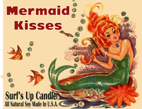 Mermaid Kisses Vintage Mason Jar Candle
