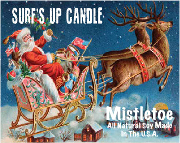 Mistletoe Santa with Sled Paint Can Candle