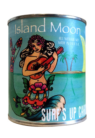 surfs up candle island moon soy candle