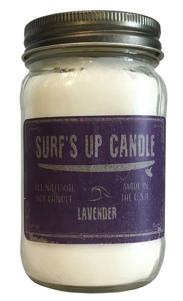 surfs up candle soy candle Calming Floral