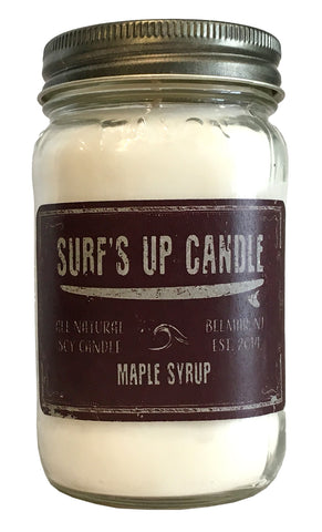 Surfs Up Candle Maple Syrup All Natural Soy