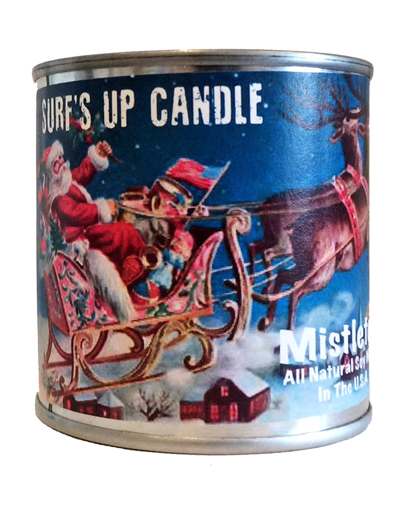 surfs up candle mistletoe soy candle