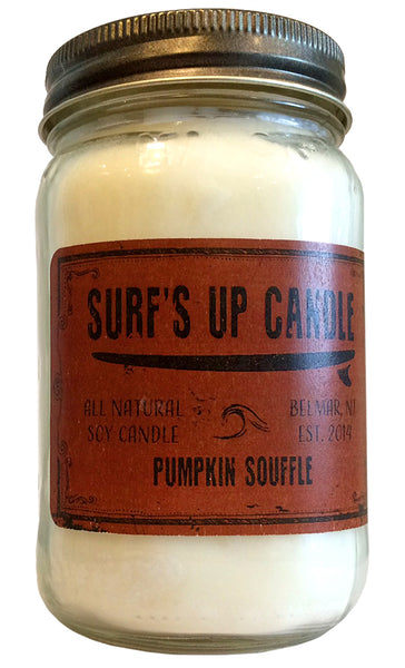 surfs up candle pumpkin souffle soy candle