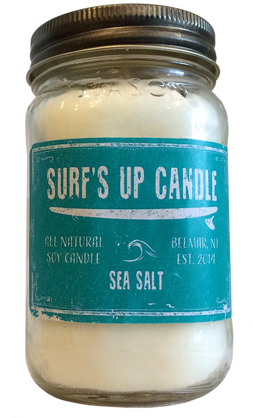 Surfs up Sea Salt soy Beach Candle
