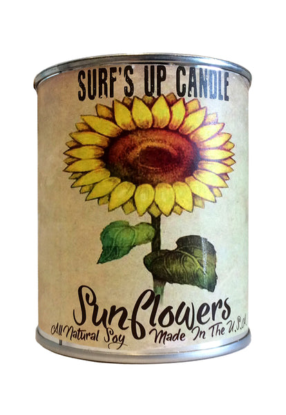 surfs up candle sunflowers soy candle