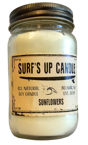 Surfs Up Soy Candle Sunflowers All Natural