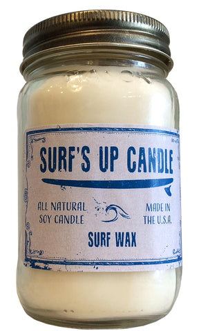 surfs up candle soy candle Surf Wax