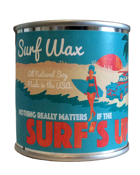 surfs up candle surf wax soy candle