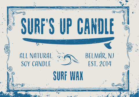 Surf Wax Mason Jar Candle