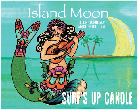 Island Moon Paint Can Candle