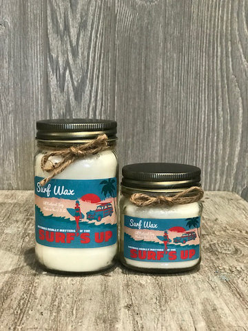 Surf Wax Vintage Jar Candle