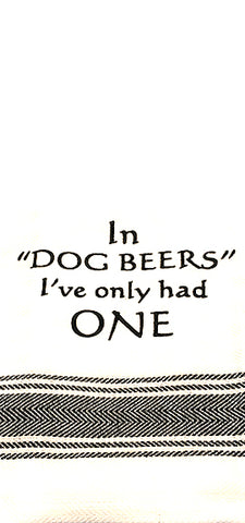 Dog Beers Towel