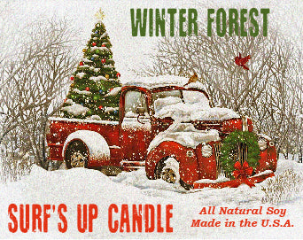 Winter Forest Paint Can Candle
