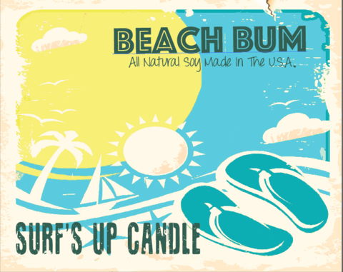 Beach Bum Vintage Jar Candle