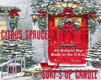 Citrus Spruce Holiday Scent All Natural soy candle