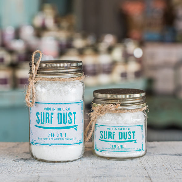 sea salt Surf Dust Bath bomb in a jar