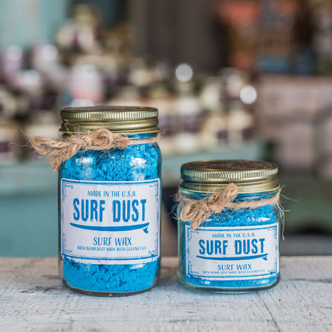 Surf Dust Surf Wax Bath Bomb in a jar