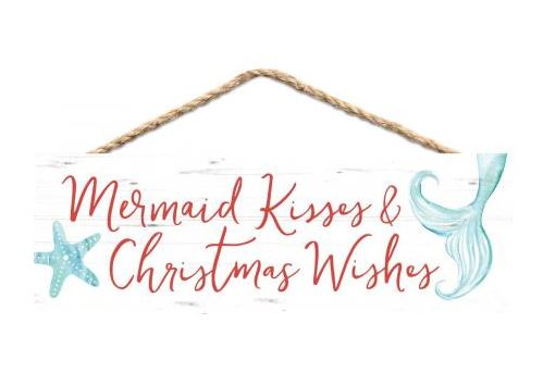 Mermaid Kisses & Christmas Wishes Sign