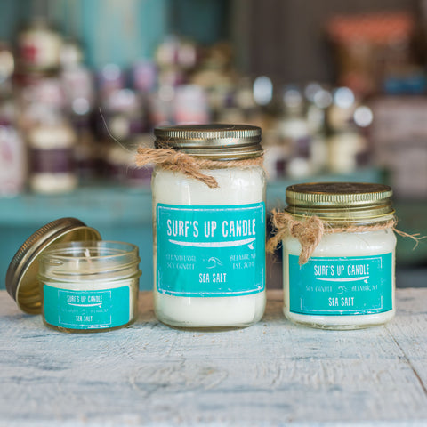 Sea Salt Beach scent paint can all natural soy candle