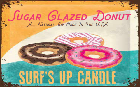 Sugar Glazed Donut Vintage Jar Candle
