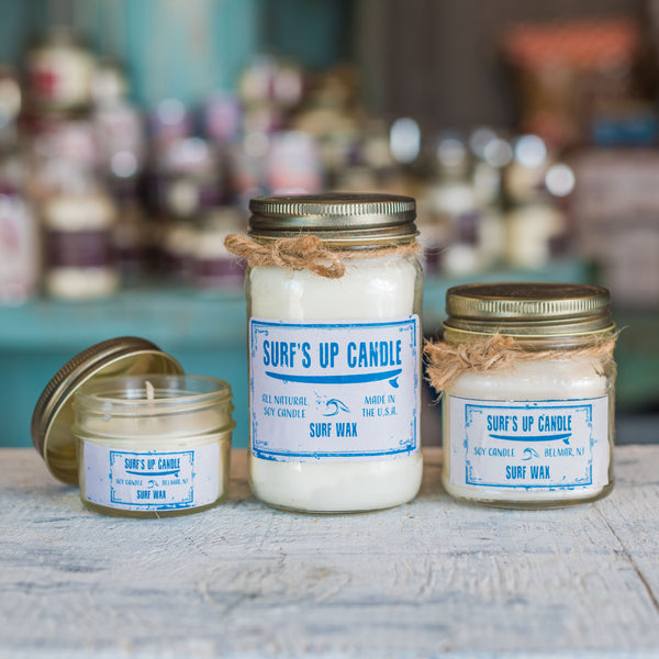 surf wax all natural soy candle