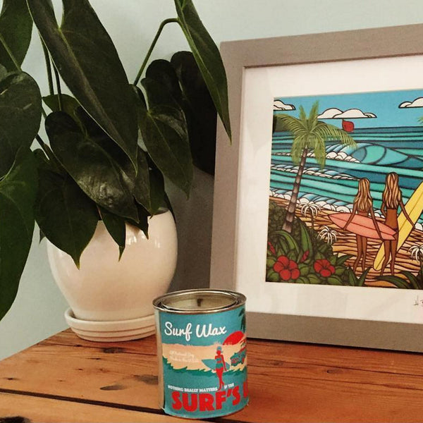 Surf Wax Paint Can Candle