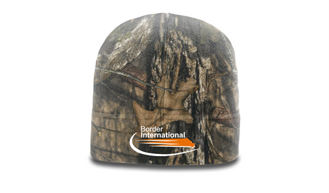 Border International Camo Microfleece Beanie