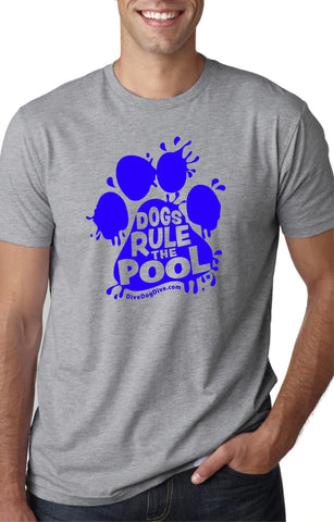 Dogs Rule The Pool Unisex Cotton Tee