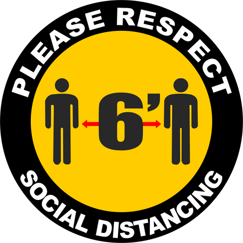 6 Feet Apart Social Distancing Decal