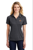 Border International Diamond Logo Ladies' Heather Colorblock Performance Polo