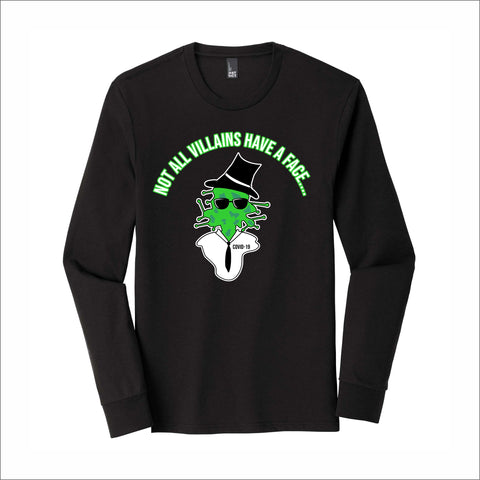 Not All Villains/Heroes Tri-Blend Long-Sleeve Tee