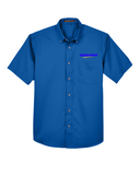 Idealease Easy Blend™ Short-Sleeve Twill Shirt with Stain-Release