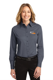 Border Tire Ladies' Long-Sleeve Easy Care Full-Button Shirt